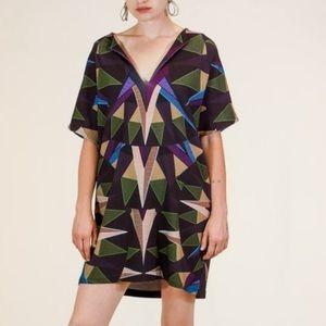 Mara Hoffman Compass Olive Tunic Dress XS/S